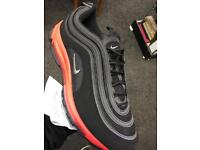 Mens Nike air max 97 blk/red sole (6-11)