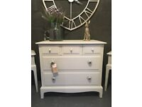 Stag Chest of Drawers & Bedside Tables