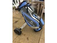 Cobra golf cart bag and pull trolley