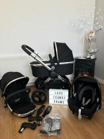 Icandy peach 3 Black magic with carrycot
