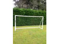 football goal with bag and net