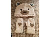 Boys hat & mittens set (4-6 years)