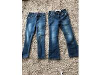 X2 girls jeans age 5-6yrs
