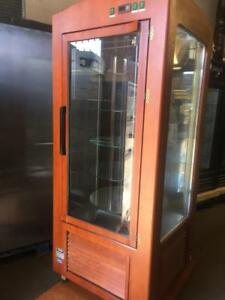 IGLOO Vertical Refrigerated Pastry Case, Wood Finish