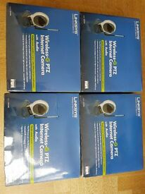 Linksys Wireless-G Internet Camera with audio for small business - unused x 4