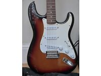 FENDER SQUIER STRAT Electric Guitar and amp.