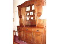 Huge antique oak dresser from France in a wonderful mid oak. Immaculate.