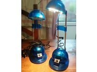 To matching blue office/ bedside desk lamp