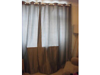 Curtains MOCHA (light beige/silvery effect) Silver Eyelets/Lined