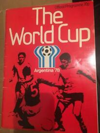 Football World Cup Argentina 1978 Official Programme