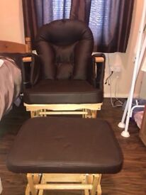 Glider Rocker Chair + Ottoman (footstool) in very good condition!!!