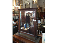 Large Mahogany Framed Dressing Table Mirror Size Base Length 30in D 7.5in Height 31in