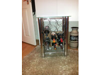 Chrome and glass wine rack