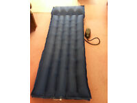 Airbed, extra length, (6ft 2in) and foot pump