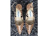 Jimmy Choo tan kitten heels