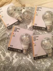 X 5 Brand New LED bulbs Ikea