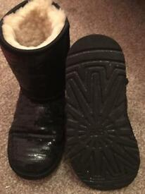 Genuine Black Ugg sequin boots