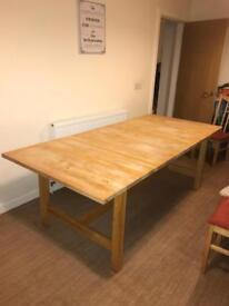 Large Wooden Dining room table