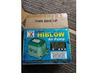 Kockney koi Hiblow air pump for fish pond with 12 month guarantee