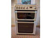 Hotpoint Ultima HUG61 Freestanding Double Oven Gas Cooker