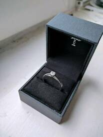 Tolkowsky 18ct white gold engagement ring