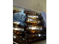 home brew brown plastic bottles with screw caps unused at least 35