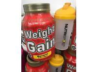 Whey protein, mass gainer Nutrisport 1.4kg free shaker