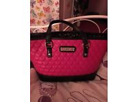Floozie pink heart quilted bag