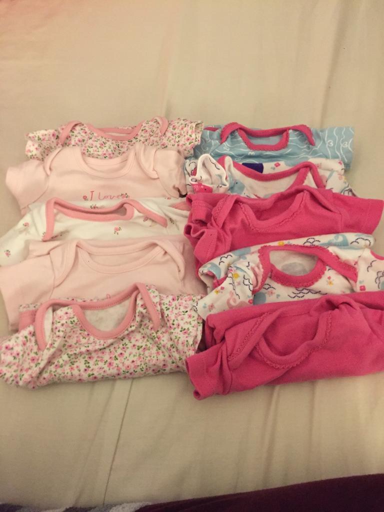 Baby girls vest bundle.