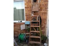 Wooden Ladders 78in from top to bottom