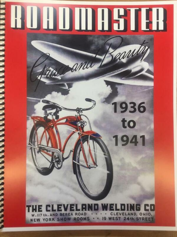 New ROADMASTER CWC BICYCLES catalog BOOK 1936-1941 antique bikes brochure COLOR