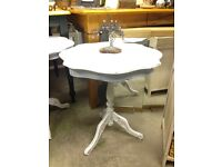 Lovely side/Lamp Table almost matching done in a nice white chalk paint £25.00 Each