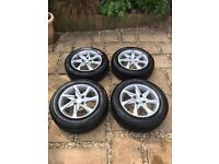 Peugeot 208 Active Alloy Wheels Set Of 4 With Tyres