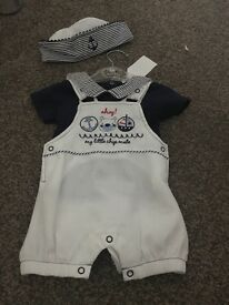 BABY SAILOR SUIT WITH HAT !