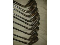 Ping golf clubs, Donnay slammer and Donnay golf bag
