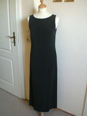 ELEGANCE PARIS langeTunika Kleid mit Hose schwarz beige 34 schwere Seide ()