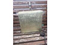 Silver / champagne gold leaf lamp vase