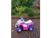 Girls quad bike