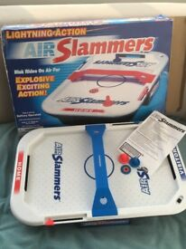 Air Slammers mini air hockey game, good condition in original box