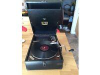 HMV Portable Wind Up Gramophone C.1926