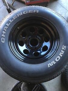 """Mag rim jante 16"""" steelies wheels 5x127 300$ les 4 sans pneus"""