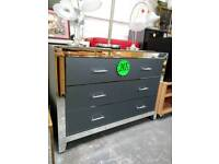 Top quality new all glass and mirror large chest of drawers