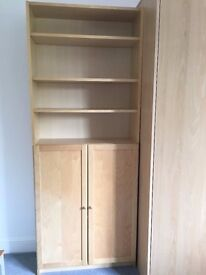 Beech effect storage unit with shelving