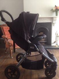 Britax B-MOTION 4 Pushchair AND CARRYCOT - Neon Black