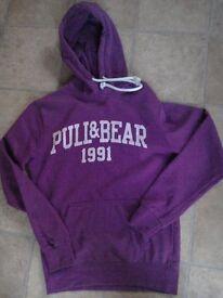 Pull & Bear hoodie. Purple. Men's size S
