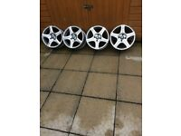 4X100 ALLOYS FOR SALE, CAME OFF A RENAULT