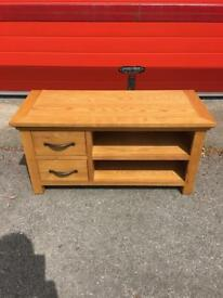 Lovely oak tv unit