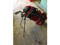 Golf clubs junior size with bag