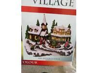 Brand new Christmas village decoration