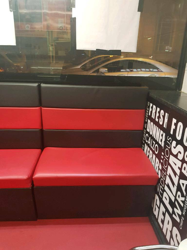 Seating Takeaway Restaurant Cafe Equipment Red Black Sofa Style